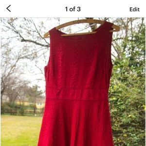 1950 Vintage inspired red dress